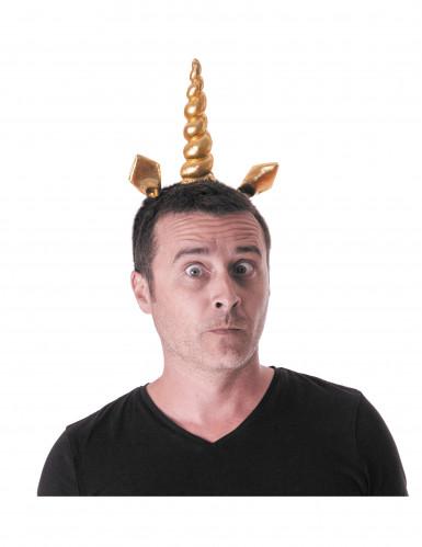 Serre-tête licorne doré adulte-1