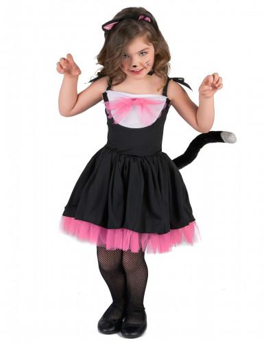 Déguisement chat noir et rose fille