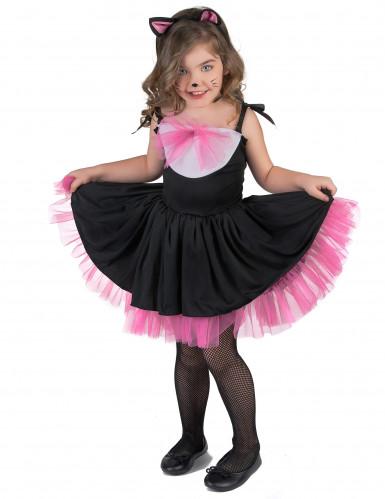 Déguisement chat noir et rose fille-1