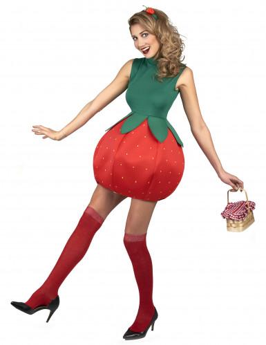 Déguisement robe fraise femme-1