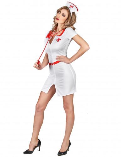 Déguisement infirmière blanche sexy femme-1