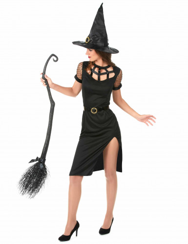 Déguisement Sorcière Sexy Noire Femme Halloween-1