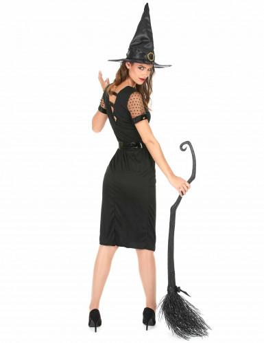 Déguisement Sorcière Sexy Noire Femme Halloween-2