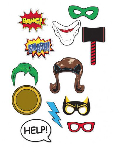 Kit photobooth 12 pièces Super-héros-1