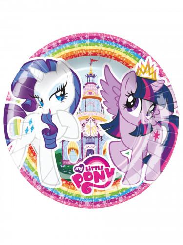 8 Petites assiettes en carton 18 cm My Little Pony ™ 18cm