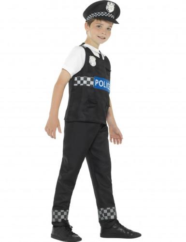 Déguisement policier noir et blanc garçon-1