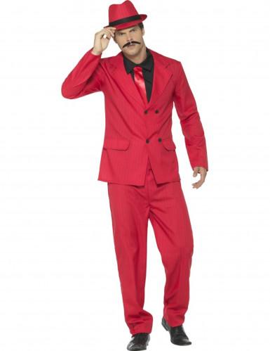 Déguisement gangster rouge homme