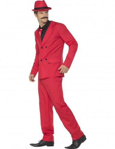 Déguisement gangster rouge homme-1