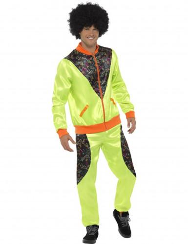 Déguisement jogging rétro vert homme