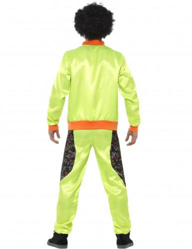 Déguisement jogging rétro vert homme-1