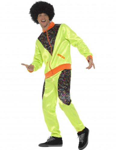 Déguisement jogging rétro vert homme-2