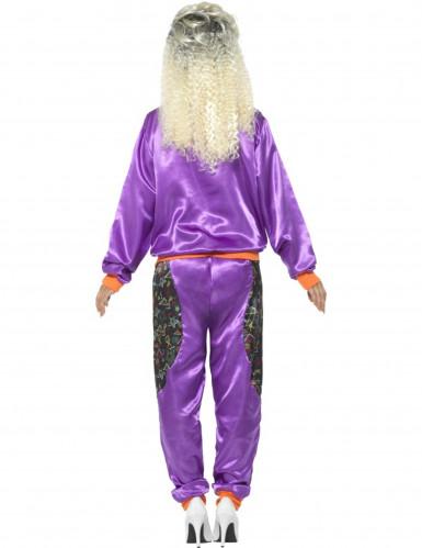 Déguisement jogging rétro violet femme-2