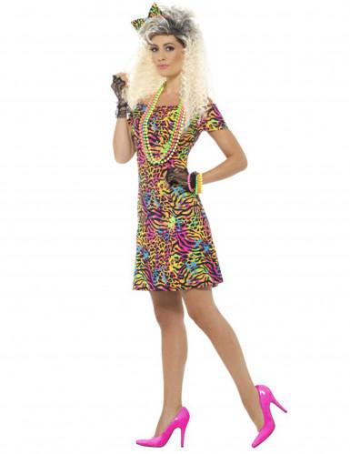 Déguisement années 80 fluo léopard femme-2