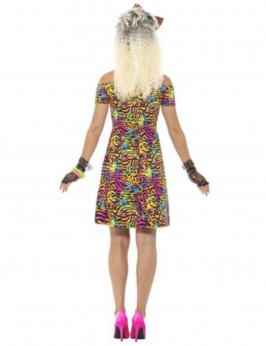 Déguisement années 80 fluo léopard femme-3