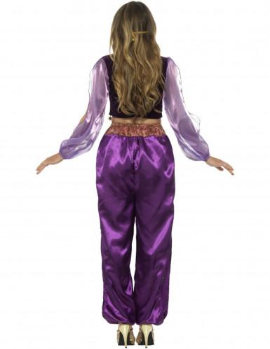 Déguisement princesse arabe violette femme-2