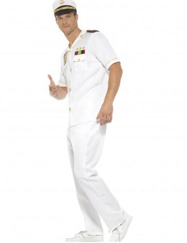 Déguisement capitaine blanc homme-1