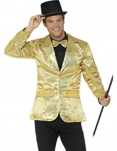 Veste disco or à sequins luxe homme