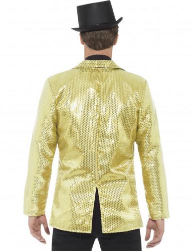 Veste disco or à sequins luxe homme-1