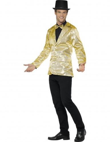 Veste disco or à sequins luxe homme-2