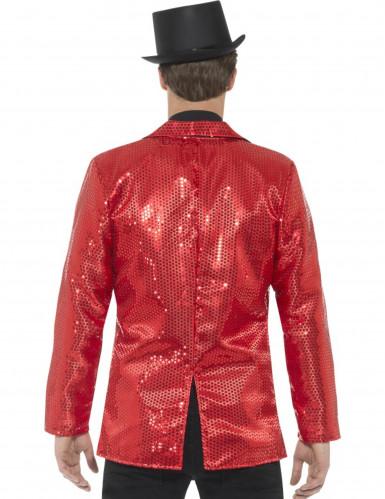 Veste disco rouge à sequins luxe homme-2