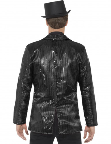 Veste disco noir à sequins luxe homme-2
