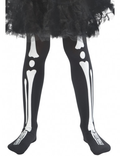 Collants squelette enfant Halloween