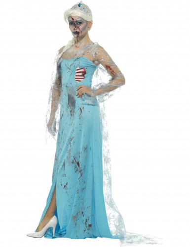 Déguisement zombie gelé femme Halloween-1
