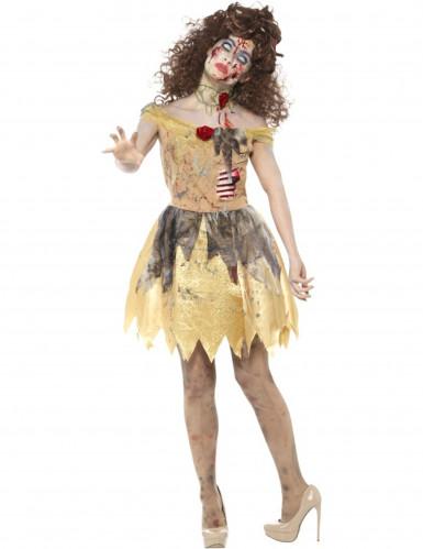 Déguisement conte de fées doré zombie femme