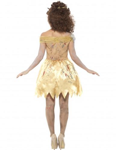Déguisement conte de fées doré zombie femme-2