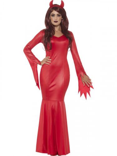 Déguisement maitresse du diable rouge femme Halloween