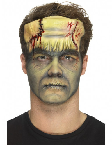 Prothèse en mousse latex monstre vert adulte Halloween-1