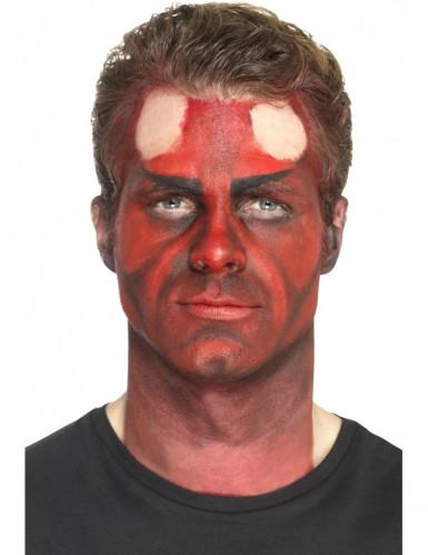 Prothèse latex cornes du diable noires adulte Halloween-2