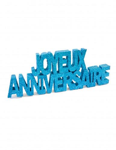 Décoration table Joyeux anniversaire turquoise