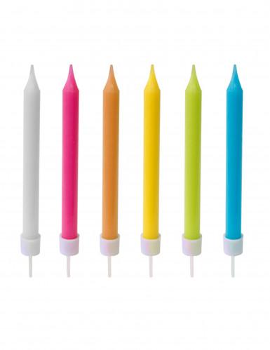 10 Bougies colorées 8 cm