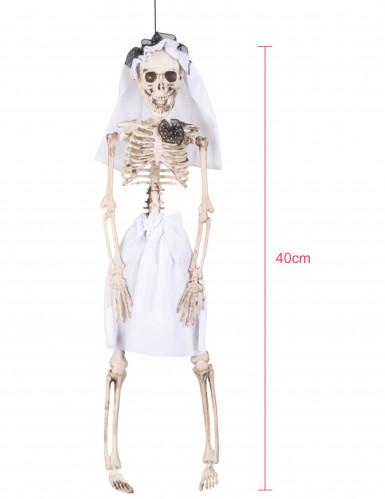 Décoration à suspendre mariée squelette 40 cm Halloween-1