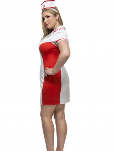 Déguisement infirmière rouge et blanche femme-1