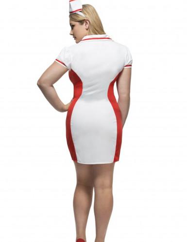 Déguisement infirmière rouge et blanche femme-2