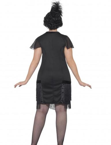 Déguisement charleston noir à franges femme-2