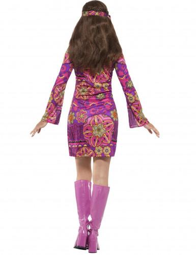 Déguisement hippie flower violet femme-1