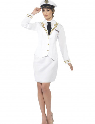 Déguisement officier blanc femme
