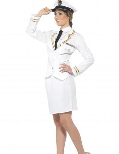 Déguisement officier blanc femme-1