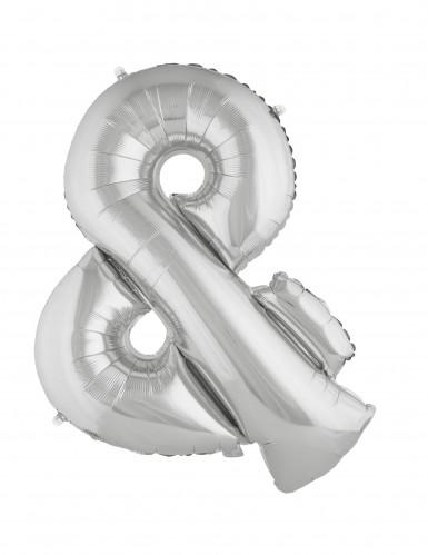 Ballon aluminium géant symbole & argent 80 cm