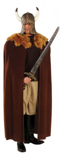 Cape viking marron luxe adulte