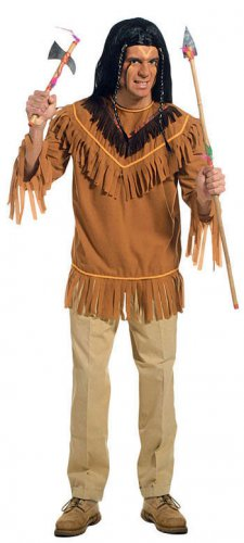 T-shirt indien franges homme marron