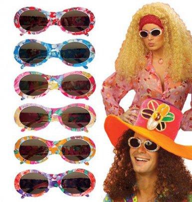 Lunettes hippie multicolore pour adulte