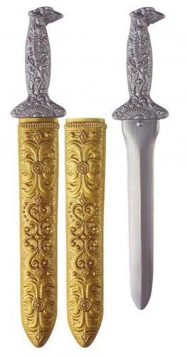 Épée argent avec son étui 41 cm