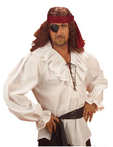 Chemise de pirate pour homme blanche