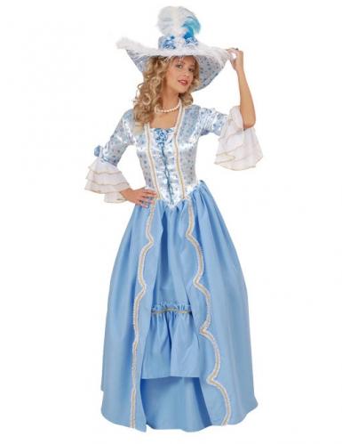 Déguisement Baroque bleu et blanc femme