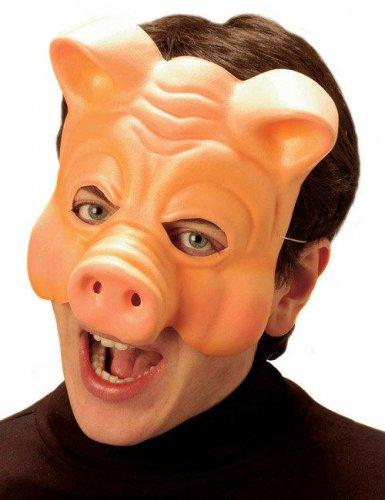 Demi-masque cochon adulte
