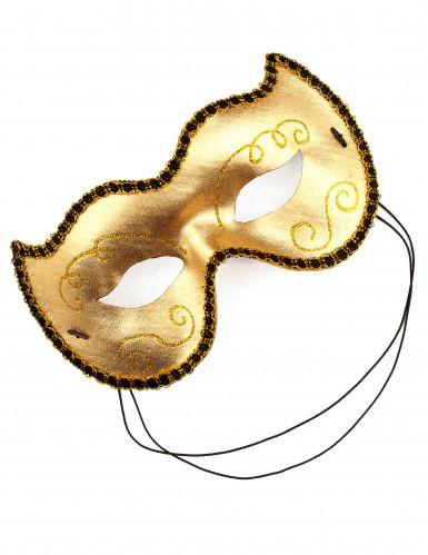 Loup chat vénitien doré adulte-1